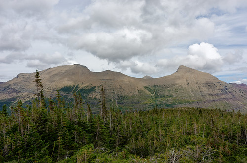 Crowfeet Mtn and Mt Henkel, GNP, Montana