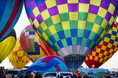 Morning Ascencion (Mark Chandler Photography) Tags: albuquerque 2019 7dmarkii newmexico color colour festival canon balloons october pattern fiesta nm hotairballoons albuquerqueinternationalballoonfiesta markchandler sky photo stock morning photography ascension