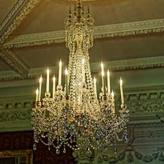 Chandelier (Croydon Clicker) Tags: chandelier light lamps ornate ceiling glass crystal candles electric stourhead wiltshire nationaltrust nikon nikkor