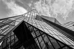 Mirror mirror (karmajigme) Tags: buildings skyscraper sky mirror reflets reflection architecture cityscape monochrome noiretblanc blackandwhite bw nikon