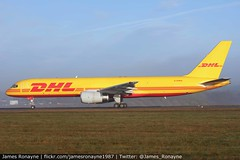G-DHKK | Boeing 757-28APCF | DHL (james.ronayne) Tags: gdhkk boeing 75728apcf dhl b752 aeroplane airplane plane aircraft luton ltn eggw canon 100400mm raw stunning gorgeous beautiful sharp sunny bright 5ds freight cargo parcels