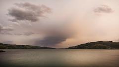 Mid afternoon NSW smoke haze dunedin (paulphotographe) Tags: dunedin new zealand aotearoa nikon sky clouds haze wild fires ocean water sea
