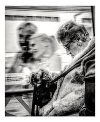 Grosse fatigue. (streetspirit13) Tags: subway bnwphotographer bnwphotography metropolitan humanstreet streetphotographer blackandwhite noiretblanc sleep