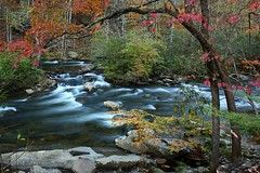 A view along River Road in Eastern TN (Steve O'Day) Tags: river tennessee water nature fall autumn travel canon timelapse longexposure smokymountains