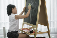 Asian preschool student draw and paint colour to the blackbord in her classroom (I love landscape) Tags: play paint talent image chalk artist color crayon draw pencil colur home family happy write lesson classroom creative blackboard drawing art education study room class school preschool asia asian flower fun portrait pretty hand kid young little child adorable person girl beautiful mulatto preschooler board chalkboard sweet illustration black learn