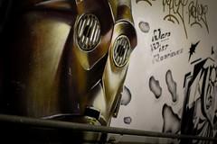C-3PO (johanneshermans) Tags: starwars c3po street art grafitti trainstation white gold