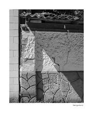 Smorgasbord (agianelo) Tags: brick block stucco wood plastic metal crack shadow detail monochrome bw bn blackandwhite