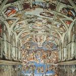 42a Сикстинская капелла. Фрески Микеланджело 1508-12, 1537-41