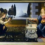 43 Леонардо да Винчи. Благовещение, 1472-1475. Уффици