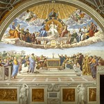 67 Рафаэль Станца Сеньятура, Диспута 1509-11. Апостольский дворец, Ватикан