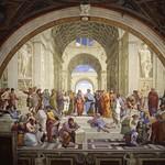 66 Рафаэль Санти.  Станца Сеньятура Афинская школа, 1509-11. Апостольский дворец, Ватикан