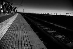 Il giorno come sempre sarà (.KiLTЯo.) Tags: kiltro it italy italia manarola cinqueterre laspezia liguria coast train station rail contrast bw blackandwhite