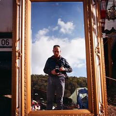 """Mirror mirror..."" (Boldizsár Nádi) Tags: color 120 120film film celluloid pentacon six tl carl zeiss jena mediumformat medium format grain squareformat 6x6 nc analog analogue analogphotography analogphotohrapher filmphotography filmgrain argentique vintage noise p6 körösfeketetó párcium sky cloudy fuji fujifilm superia 100 expired flektogon 50mm f4 450 50 mirror reflection"