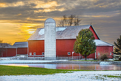 Red Barn Sunset (markburkhardt) Tags: