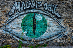 Mauvais oeil (musette thierry) Tags: streetsart tag urbex musette thierry d800 nikon nikkor couleur vert