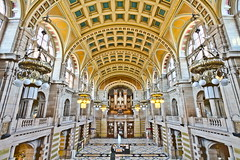 Kelvingrove Art Gallery and Museum Central Hall (michael_d_beckwith) Tags: kelvingrove art gallery museum galleries museums hall halls central interior interiors inside architecture architectural building buildings arch arches place places historic historical history old famous landmark landmarks glasgow glaswegian scotland scottish british european 4k 5k uhd stock free public domain creative commons zero o pretty pritty beautiful ornate tourism heritage michaeldbeckwith michael d beckwith