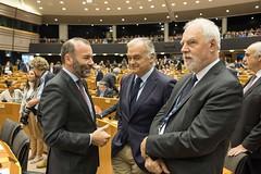 Sesja plenarna w Brukseli - Jan Olbrycht, Esteban Gonzalez Pons i Manfred Weber