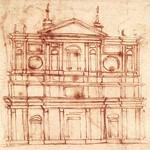30 Фасад церкви Сан-Лоренцо во Флоренции (оригинальный эскиз Микеланджело Буонарроти)