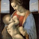 46 Леонардо. Мадонна Литта, 1490-91. Эрмитаж