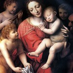 54 Бернардино Луини (школа Леонардо) Богородица со спящим младенцем, 1500. Лувр