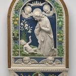 99 Андреа делла Роббиа. Поклонение младенцу.