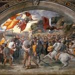 71 Рафаэль Станца Илиодоро. Папа Григорий Великий останавливает Атиллу,