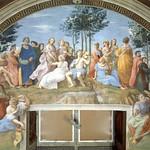 68 Рафаэль. Станца Сеньятура. Парнас, 1509-11. Апостольский дворец, Ватикан