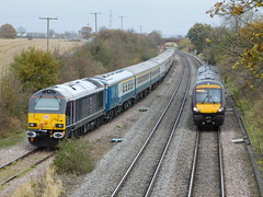 Passing at Elford Loop (The Black Country Spotter) Tags: elford loop tamworth staffordshire class67 diesel locomotive 67004 67006 emptycoachingstock burton wetmore wembley class170 turbostar 170112 birmingham nottingham crosscountry trains multipleunit dmu networkrail britishrailways