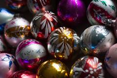 vintage christmas (angiepineappletree) Tags: vintage christmas ornaments baubles balls glass mercuryglass