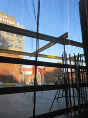 IMG_9927 (Brechtbug) Tags: sixth floor rising 350 352 now be building 2019 midtown manhattan 45th street near times square nyc 11152019 new york city cube architecture traffic transit car cars auto lots steel beams beam red brick wall green shed park brownstone 1920s apts apartment house apartments construction fence november working 6th
