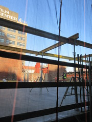 IMG_9924 (Brechtbug) Tags: sixth floor rising 350 352 now be building 2019 midtown manhattan 45th street near times square nyc 11152019 new york city cube architecture traffic transit car cars auto lots steel beams beam red brick wall green shed park brownstone 1920s apts apartment house apartments construction fence november working 6th