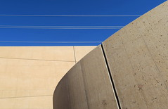 ___   lines & concrete  ___ (christikren) Tags: austria architecture abstract christikren europe himmel lines linien canonpowershotg5x perspective photography wall concrete sky blue linescurves detail geometry modern