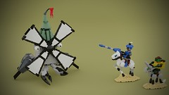 That's No Windmill! (Space Glove) Tags: lego ldd mecabricks castle knight