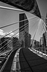 Foot Bridge, Bilbao, Spain (Blackburn lad1) Tags: spain bilbao blackwhite xt20 bridge mono