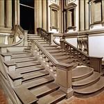 29 Микеланджело. Библиотека Медичи Лауренциана. Лестница 1524-26
