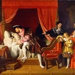 53б Жан Огюст Доменик Энгр.  Леонардо умирает на руках Франсиска I, 1818. Замок Кло-Люсе