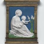 96 Лука делла Роббиа. Мадонна с младенцем, 1475. Widener Collection