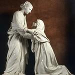 95 Лука делла Роббиа.Встреча Марии и Елизаветы. Церковь с-Джованни, Пистойя