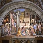 73 Рафаэль Станца дель Инчендио ди Борго. Пожар в Бого, 1514-1517