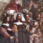 70а Рафаэль  Изгнание Элиодора из Иерусалимского храма. Фрагмент - папа Юлий II