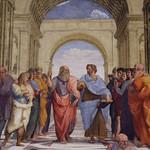 66а Рафаэль Афинская школа, Фрагмент. Платон и Аристотель