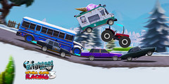 UPHILL CLIMB RACING 3 (mihai.chiorean.arte) Tags: fun blue uphill racing trucks speed online games brightestgames outside new car winter drawing art photoshop