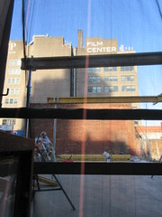 IMG_9931 (Brechtbug) Tags: sixth floor rising 350 352 now be building 2019 midtown manhattan 45th street near times square nyc 11152019 new york city cube architecture traffic transit car cars auto lots steel beams beam red brick wall green shed park brownstone 1920s apts apartment house apartments construction fence november working 6th