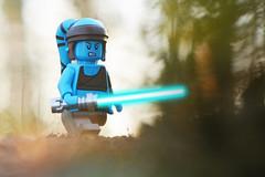 LEGO Aayla Secura (weeLEGOman) Tags: lego aayla secura jedi knight master blue lightsaber star wars clone minifigure mini figure toy macro photography uk outdoors outside nikon d7100 105mm robert rob trevissmith weelegoman