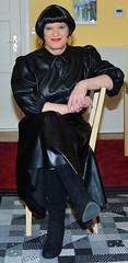 Birgit029743 (Birgit Bach) Tags: fullskirt glockenrock blouse bluse fauxleather kunstleder