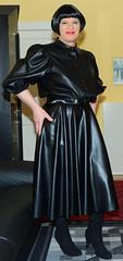 Birgit029741 (Birgit Bach) Tags: fullskirt glockenrock blouse bluse fauxleather kunstleder