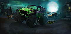 HALLOWEEN SPOOKY ROADS (mihai.chiorean.arte) Tags: blue new outside car brightestgames fun kids online games driving uphill art drawing photoshop