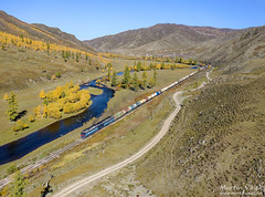 2TE116UM-029 UBTZ, Tunkh - Shatang (Mongolia) (Martin Válek) Tags: rail railway railroad train locomotive zug eisenbahn vlak železnice mongolsko mongolei transmongolianrailway ulaanbaatarrailway