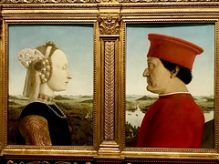Piero della Francesca - I duchi di Urbino Federico da Montefeltro e Battista Sforza Uffizi (cosediieri) Tags: florence firenze uffizi pierodellafrancesca art beautiful illustration paint artist gallery drawing creative artsy draw artoftheday instaart instaartist