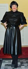 Birgit029739 (Birgit Bach) Tags: fullskirt glockenrock blouse bluse fauxleather kunstleder